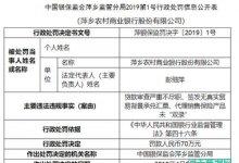 萍乡农商行因代销保险签发无真实贸易背景承兑汇票等原因被罚70万