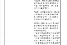 徽州农商行董事长等7高管违法签发银行承兑汇票等被罚