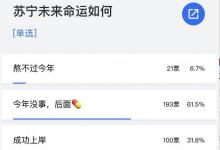 调查结果显示:苏宁未来的命运会如何?