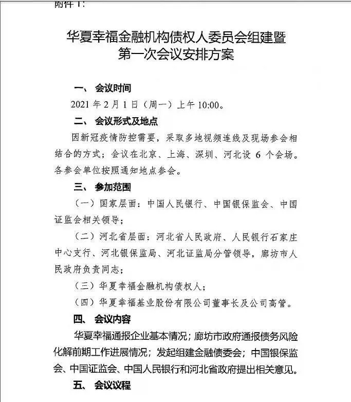 华夏幸福高规格债委会名单曝光...